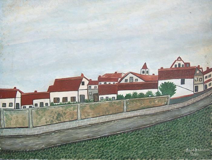 DAVID RADOVANITZ <br> Signed Painting Polish Israeli Naive