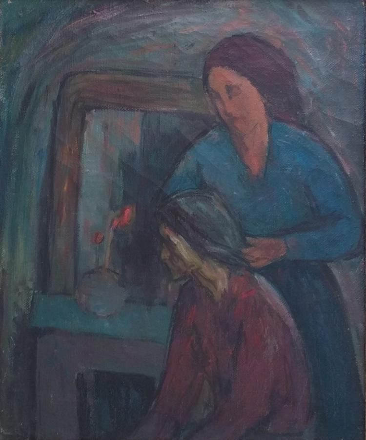 SEWERYN SZRAJER Signed Oil Painting Polish Ecole de Paris