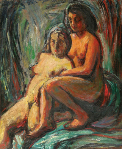 SEWERYN SZRAJER Signed Oil Painting Polish Nudes Ecole de Paris