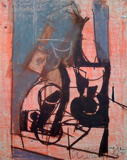 JOACHIM WEINGART Painting Polish Ukrainian Cubism