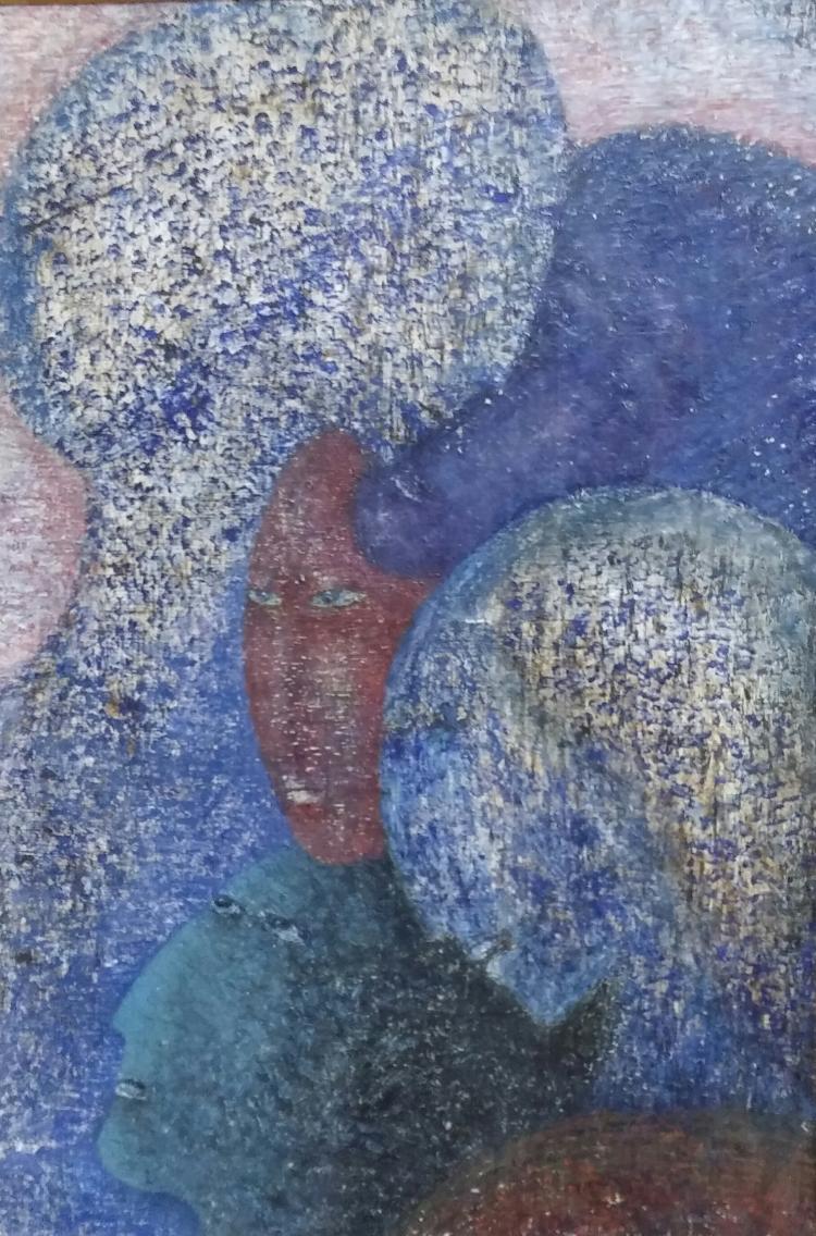 BELLA BRISEL Signed Painting French Israeli Eole de Paris