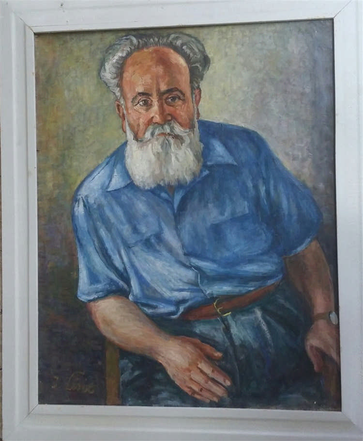 Moussia Toulman Signed Painting 1965 Ukrianian French Israeli