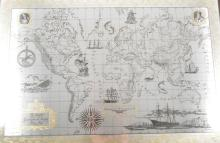 A limited edition silver and gilt map, The Royal Geographical Society Silve