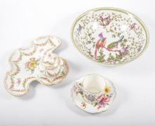 Continental dessert service, Old Aves pattern, Continental porcelain encrie