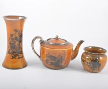 Collection of Ridgways Coaching Days pattern pottery; tea ware, plates, bic