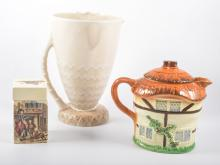 Staffordshire cottage teaware, a Royal Doulton Series ware, other ceramics