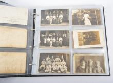 Postcard, WW1, humour, people etc, in a album and some loose.
