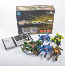 Modern and vintage toys; including Mutant Turtles, He-man, Sheck, The Simps