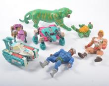 Large quantity of vintage toys; including Thundercats, Transformers, He-Man