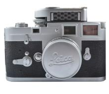 A Leica M3 camera, with Summicron F=5cm, 1:2 lens, in original leather case