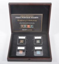 Stamps: Britain's First Postage Stamps - Philatelic Legends, cased set of f