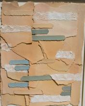 Caro?, Contemporary collage, torn parer and mixed media, signed in pen, 71