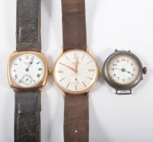 Two vintage Waltham wrist watches, both gentleman's, one a Waltham USA havi