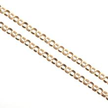 A yellow metal belcher link chain, 145cm long, fitted with swivel and split