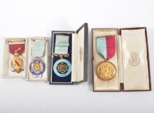 Four Masonic Medals, three silver and enamel medals - Pomfret Lodge, The Ro