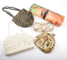 Thirteen vintage evening bags, beaded, sequins, simulated pearl and fabric