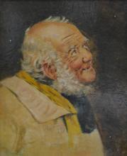 English School, The Yokel, oil on relined canvas, 28cm x 22cm.