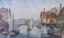 Greene After J.F. Lee, Old West Bridge, Leicester, signed and dated 1878, w