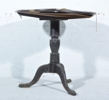 Burmese carved hardwood occasional table, circular tilt top, designed with