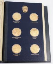 The Churchill Centenary Medals, an album of twenty-four silver gilt medals
