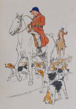 After Cecil Aldin, Huntsman and Hounds, together with two contemporary spor