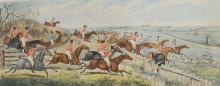 After John Dean Paul, Leicestershire, four colour hunting prints, 35cm x 66