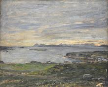 Herbert Royle, Scottish coastal scene, signed, oil on canvas, 51cm x 62cm,