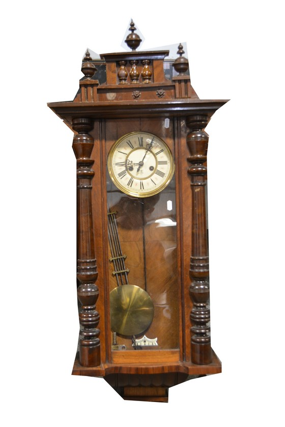 A vienna style mahogany wall clock with compensating pendul - Stylish pendulum wall clock ...