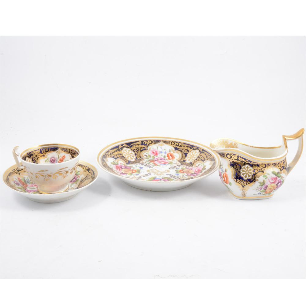 A Coalport part tea service, 19th century
