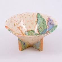 Clarice Cliff, 'Patina Country' a conical shape bowl, circa 1935, the inter