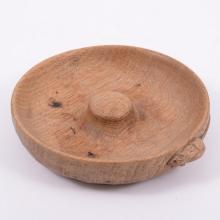 Robert 'Mouseman' Thompson of Kilburn, an oak pipe tray, circular form with