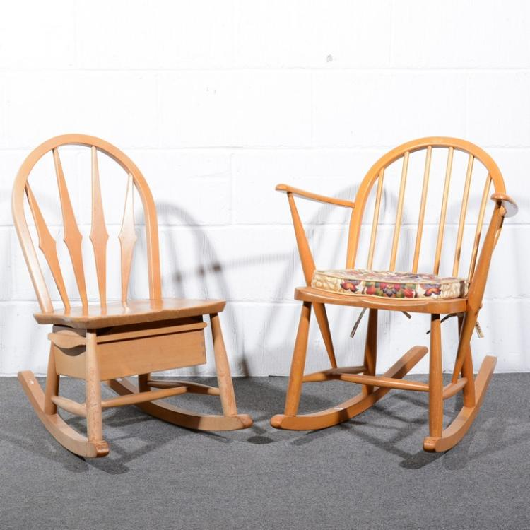 Astonishing Ercol A Windsor Tub Rocking Chair Model 470 With Associat Evergreenethics Interior Chair Design Evergreenethicsorg