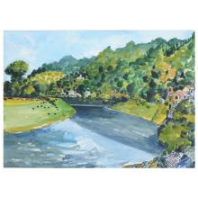 Rigby Graham, Tintern,  watercolour, signed and dated 10 May '89,  40cm x 4