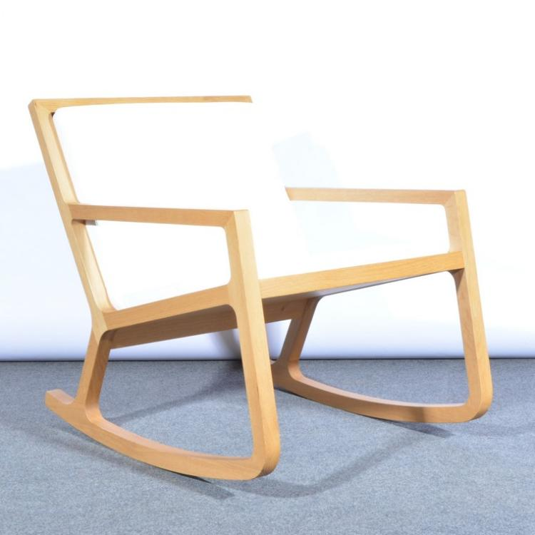 contemporary light oak rocking chair retailed by habitat s. Black Bedroom Furniture Sets. Home Design Ideas
