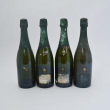 Bollinger, Grande Annee, 1990 vintage champagne (4 bottles, poor labels)