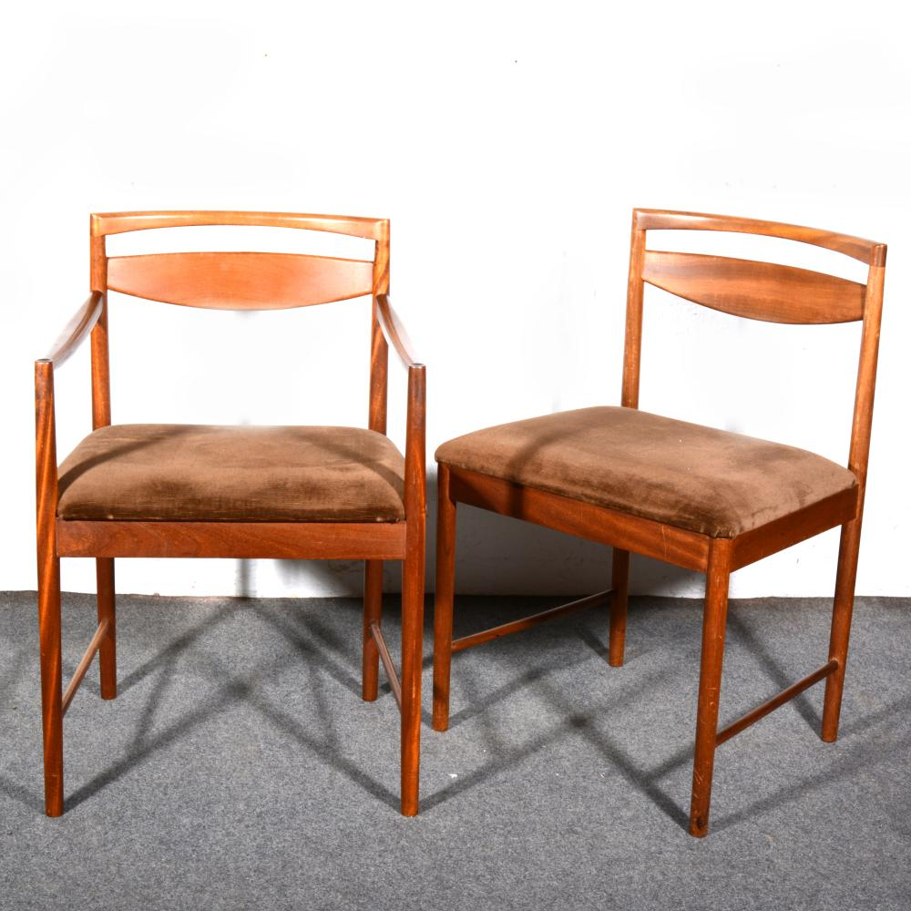 Five Mid Century Teak Dining Chairs
