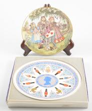 Eight  Wedgwood collectors plates.