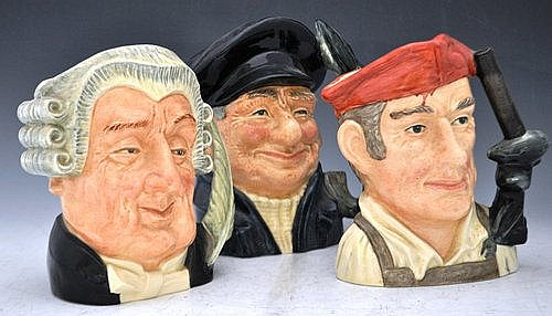 Collection of six Royal Doulton large character