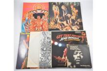 Small collection of vinyl music LP records, including Jethro Tull This Was,