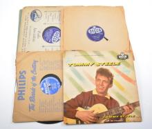 Vinyl records; 1950s Rock 'n' Roll 78s, including Tommy Steele, Doris Day,