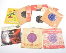 Vinyl Records; singles mostly 1950s and 1960s Rock 'n' Roll, pop and others