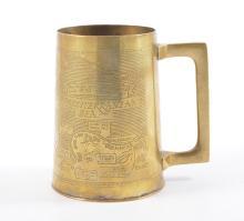 World War II interest: Engraved brass mug, The North Africa Campaign, made