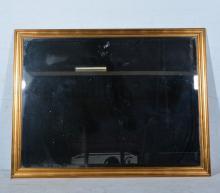 Contamporary gilt framed wall mirror, rectangular bevelled plate, 131 x 101
