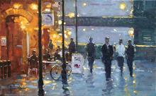 Peter van Breda, Evening Lights, Hammersmith Bridge, London