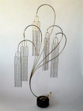 Deco Inspired Large Curtis Jere Willow Tree Sculpture 1984.