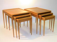 PAIR of Nesting Tables by T.H. Robsjohn Gibbings for Widdicomb 1950s