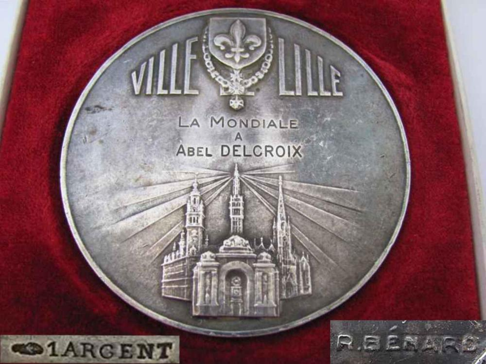 1920s Art Deco Cased Silver Plaque Medal By Raoul Benard E