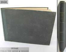 1858 antique German album book with handmade paper Art in architecture