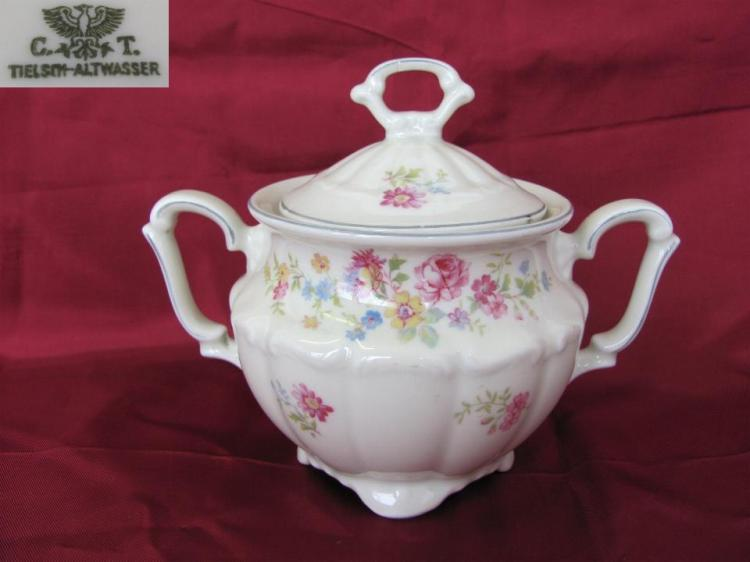WW2 original German Carl Tielsch Altwasser porcelain sugar b