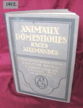 1912 antique German hardcover book Hauptner rare breeds domestic animals Very Rare